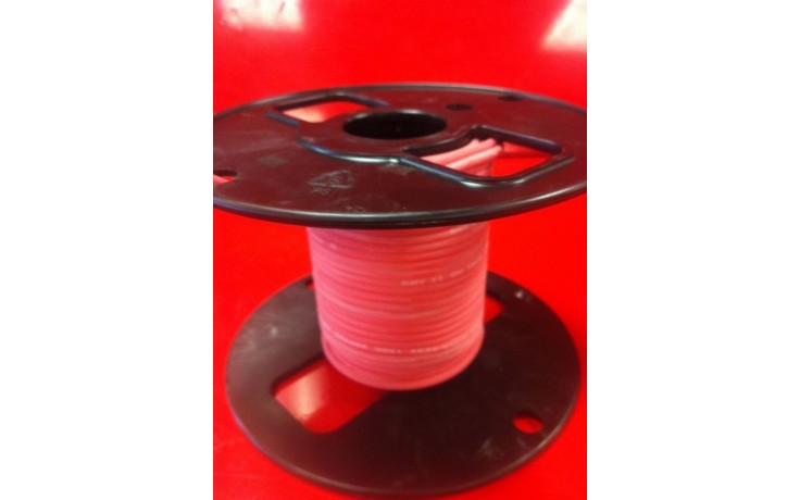 UL3257 25kV DC 16AWG 19/29 Stranded Nickel-Plated Copper Red Oxide Silicone Ignition Wire, 50' Ft.
