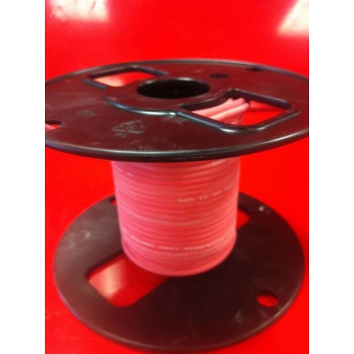 UL3257 25kV DC 18AWG 16/30 Stranded Nickel-Plated Copper Red Oxide Silicone Ignition Wire, 50' Ft.